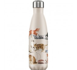 Bouteille isotherme Chilly's 500ml Emma Bridgewater Chats / Cats