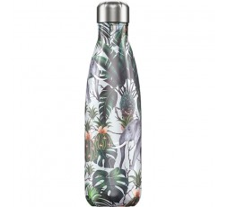 Bouteille isotherme Chilly's 500ml Tropicale Éléphant / Tropical Elephant