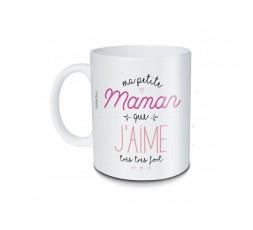 Mug Ma petite Maman que j'aime très très fort en céramique blanche