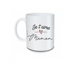 Mug Je T'aime Maman en céramique blanche