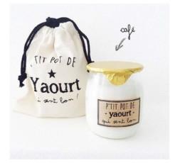 Bougie - P'TIT POT DE YAOURT - CAFÉ
