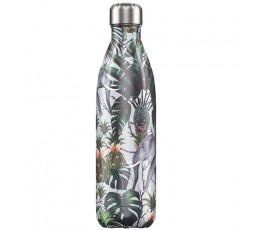 Bouteille isotherme Chilly's 750ml Tropicale Éléphant / Tropical Elephant