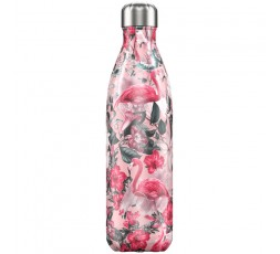 Bouteille isotherme Chilly's 750ml Tropicale Flamant / Tropical Flamingo