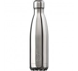 Bouteille isotherme Chilly's 500ml Argent Chromé / Chrome Silver