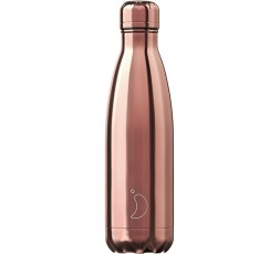 Bouteille isotherme Chilly's 500ml Or Rose Chromé / Chrome Rose Gold