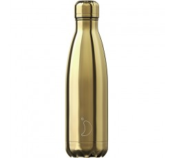 Bouteille isotherme Chilly's 500ml Or Chromé / Chrome Gold