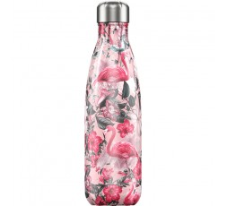 Bouteille isotherme Chilly's 500ml Tropicale Flamant / Tropical Flamingo