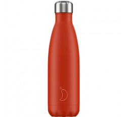 Bouteille isotherme Chilly's 500ml Néon Rouge / Neon Red